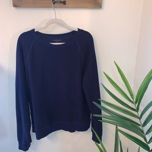 Everlane french terry navy crew neck sweater